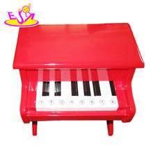 2017 Hot selling toy musical instruments child wooden piano, colorful child wooden piano set W07K002