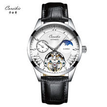 Relogio Masculino Mens Watches Automatic Mechanical Tourbillon leather Chronograph men Wristwatches