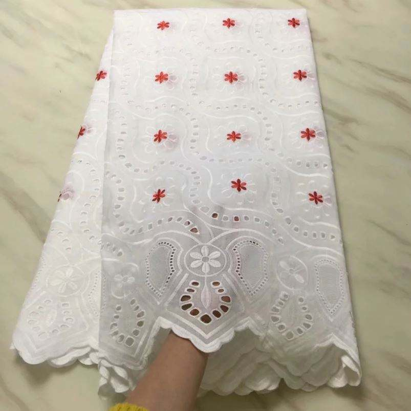 New Polish Swiss Cotton Voile Lace African Swiss Voile Lace High Quality Best Selling In Nigeria
