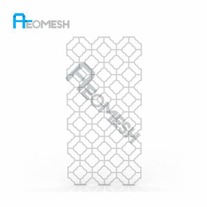 Made in Guangzhou Professional Factory Plum-shaped perforated plate Decorative Metal Perforated Mesh