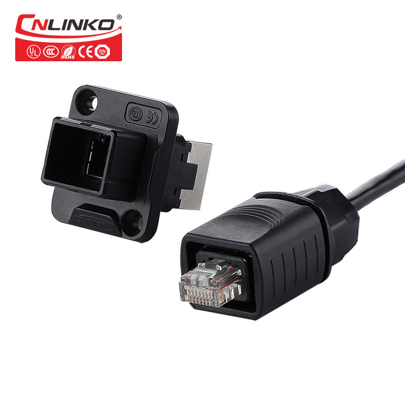 CE Mark RJ45 Connector, IP65 Waterproof RJ45 Female to Male Connector