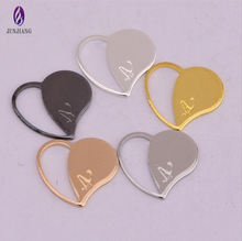 DIY fashion jewelry for bag gold hollow heart copper pendant