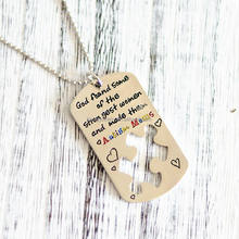 factory price engraved wholesale autism pendants necklace stainless steel jewelry for children