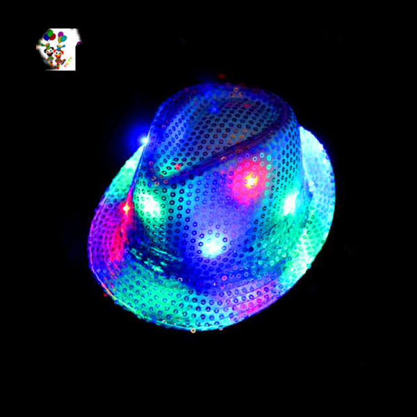 Burlesque Fancy Dress Led Flashing Sequin Party Hats HPC-3309