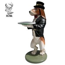 Shop decoration life size resin animal cartoon dog statue