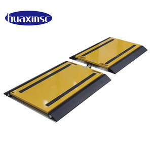 Ultra thin weigh aluminum-alloy wheel load axle truck portable vehicle scales