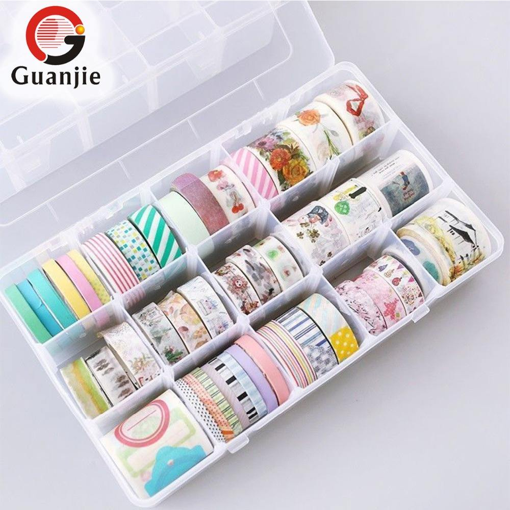 15MM*10M DIY decorative Sticky Paper Masking Washi Stationery Tape