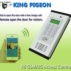 gsm 3g access control & apartment intercom k6 gsm gate opene
