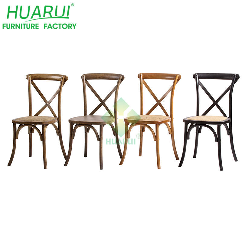 Event Wedding Banquet Wood Cross-back Dining Chair