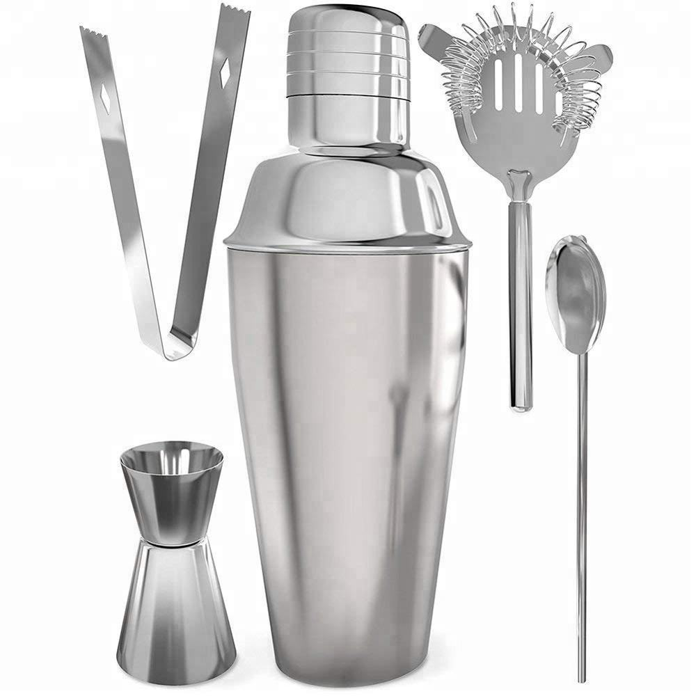 Svin Custom Logo Professional Bartender Kit 304 Stainless Steel Cocktail Shaker Set for Gift
