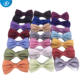 Wholesale Mens Check Polyester Solid Color Bow Tie For men