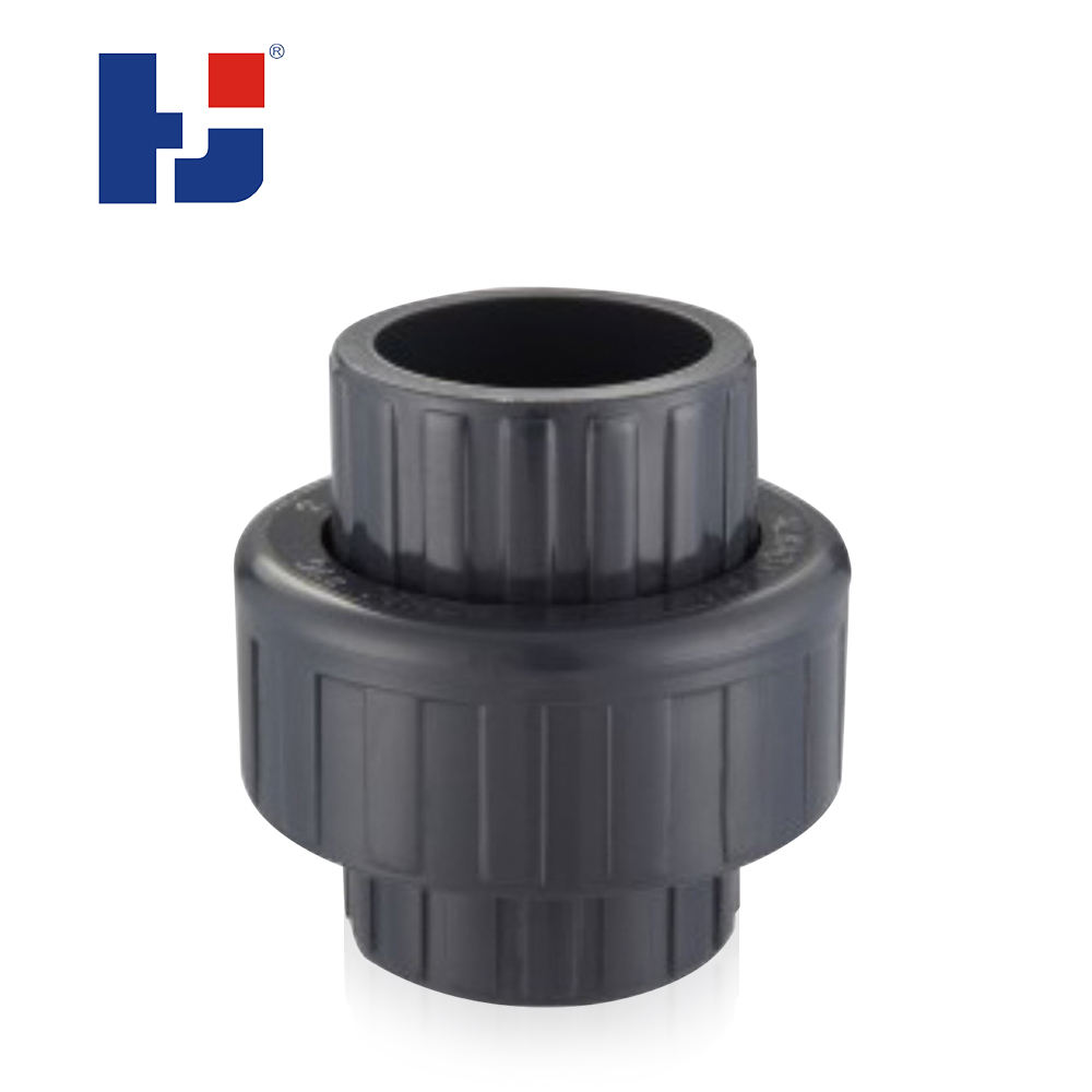 HJ SCH80 standard upvc plastic water supply gi pipe fittings connector union
