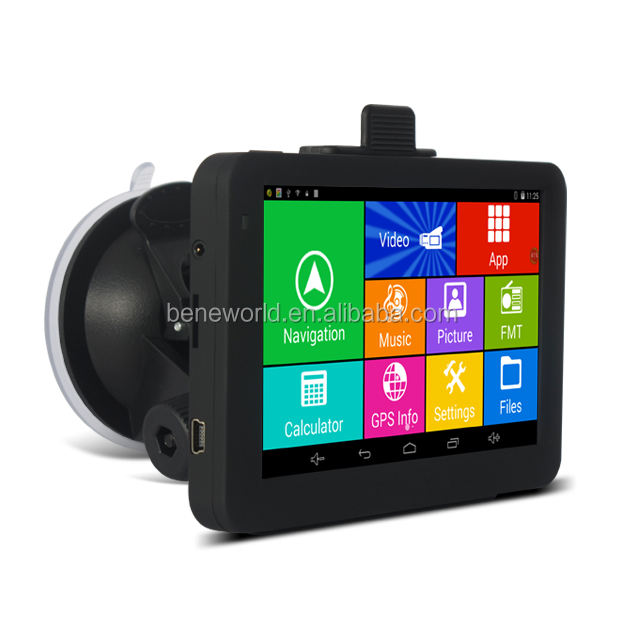 Mediatek 8127 GPS tracking 5 inch Android GPS Navigator DVR optionele WIFI gratis kaart update