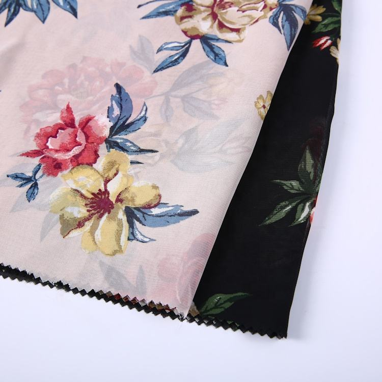 China wholesale manufacturers new design custom printed polyester fabric for shirt