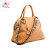 Online shop China wholesale handbags with flower long strap light brown beautiful shape handbags ladies
