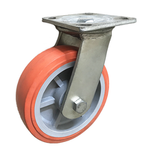 6 Inch Caster Wheels 238Kg Polyurethane  Fixed Swivel Roller caster wheel heavy duty for shower cabins