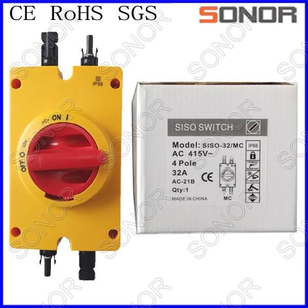 Waterproof Solar AC isolator switch/waterproof switch