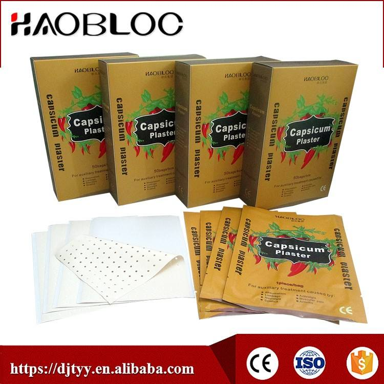 Capsicum Plaster/Pain Relief Patch, Work Fast, OEM/ODM Adhesive, Extract Medicated