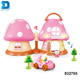 best selling kids plastic cartoon house mushroom toy with lighting music