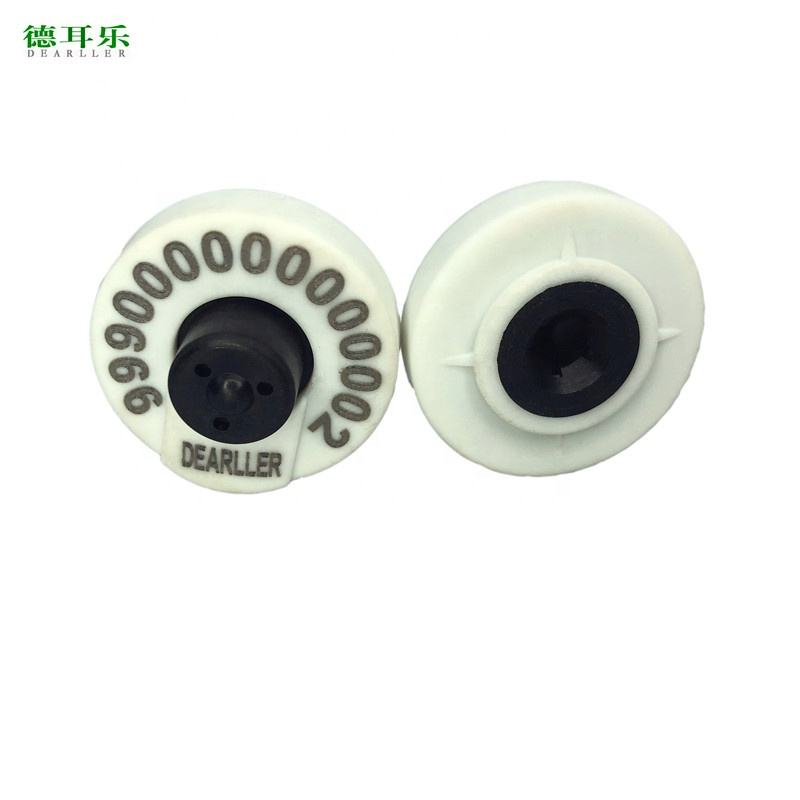 Eid Ear Tags Round Closed 134.2khz FDX-B TPU ICAR Numbering Sheep Animal Tracking EID RFID Ear Tag