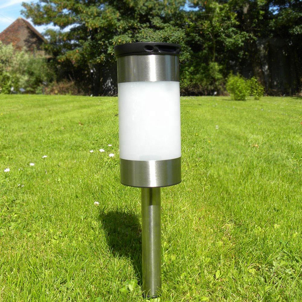 Outdoor Garden Solar LED Lawn Fence Light Lamp Bollard Post Deck Winter Best Power New Outdoor Garden