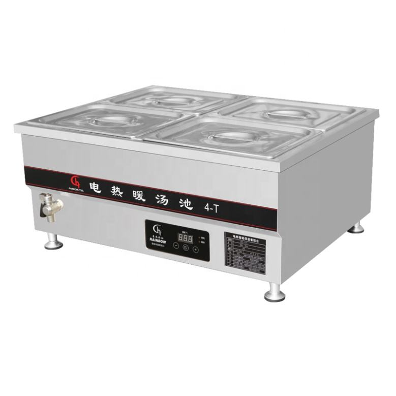 High Safety Factor Counter Top Bain Marie With Temperature control panelFor Buffet Warmer