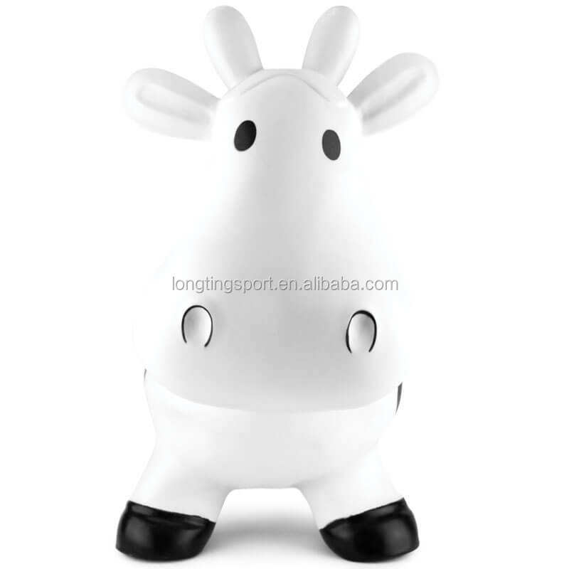Inflatable Jumping milk Cow , jumping hopper animal bouncer , animated toy horse