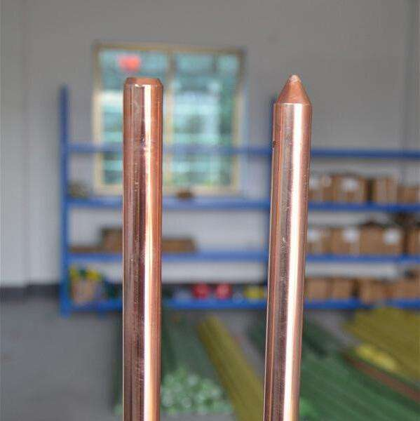 Solid Copper bonded Earth Rod Price copperweld clad steel ground rod for earthing system material