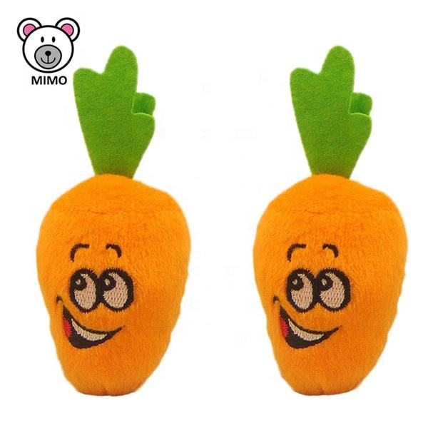 European Standard New Design Dog Carrot Plush Toy For Pet Wholesale Cartoon Cotton Food Stuffed Vegetable Soft Toy Plush Carrot