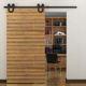 Meijia wood antique frameless sliding barn door