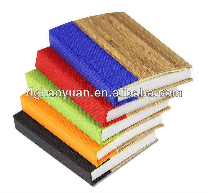 hot sale handy bamboo recycled paper notebook with pen