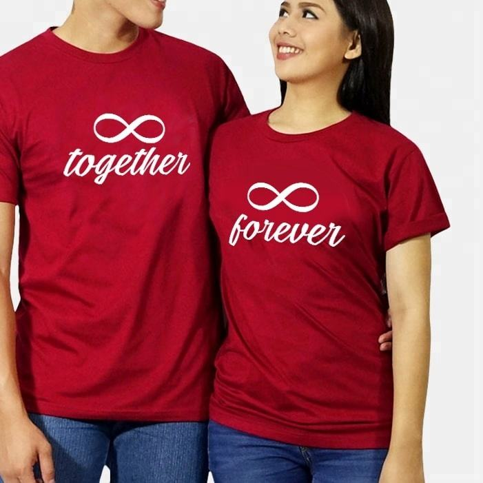 Special matching t shirts for couples love t shirt short sleeve design in summer