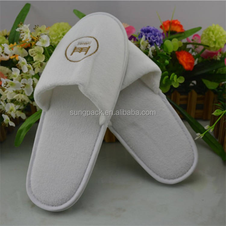 Fashion Daily Use Slippers for Hotel Home Travel SPA Guest Shoes In Terry Cloth Slippers