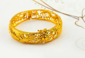 JTS SZ005F New Style Indian Bridal 24K Real Gold Plated Bangle Women Brass Jewelry Bangles