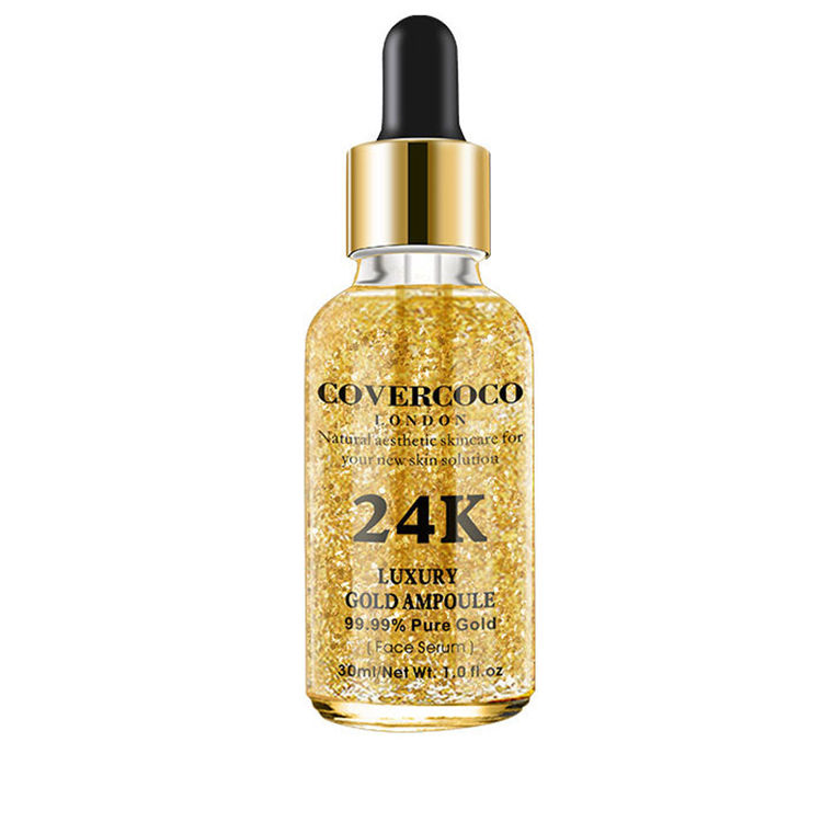 24k gold foil gold essence serum, anti-wrinkle, anti-aging and anti-aging essence peptide essence facial cosmetics