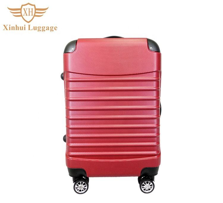 Promotion personnalisé mode filles rouge abs trolley roues bagage