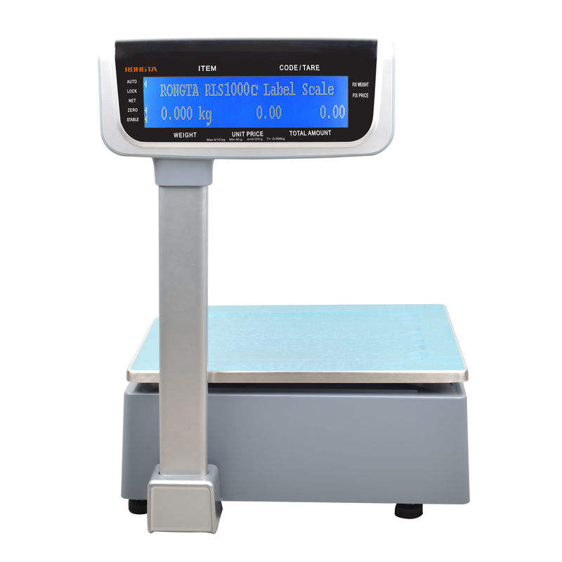 RONGTA retail butcher shop scales with label printer