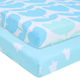 OEM service For Baby Girl boy best sales Set 2 Pack 100% woven Cotton baby Crib Sheets