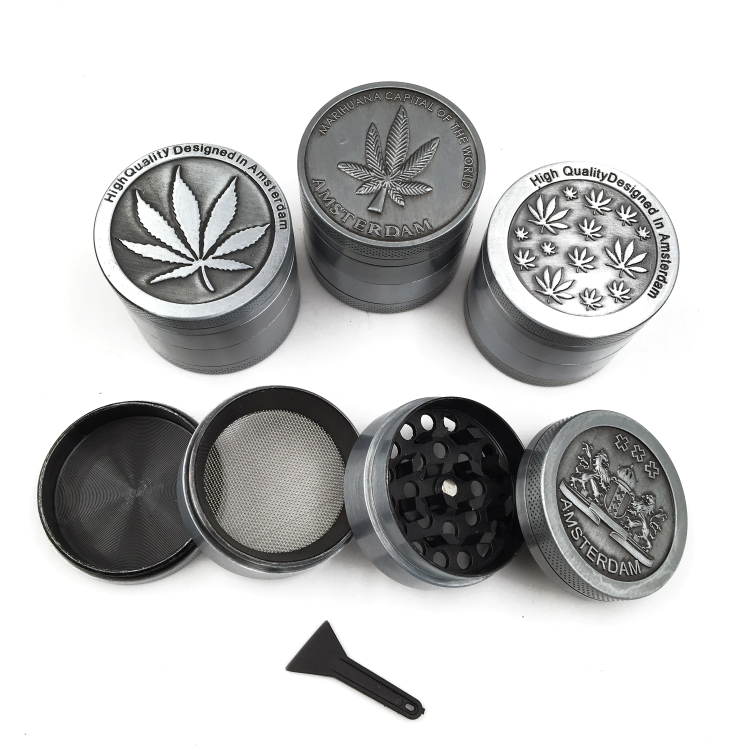 Wholesale Herb Grinder Manufacturer CNC Tobacco 4 Part Metal Herb Grinder