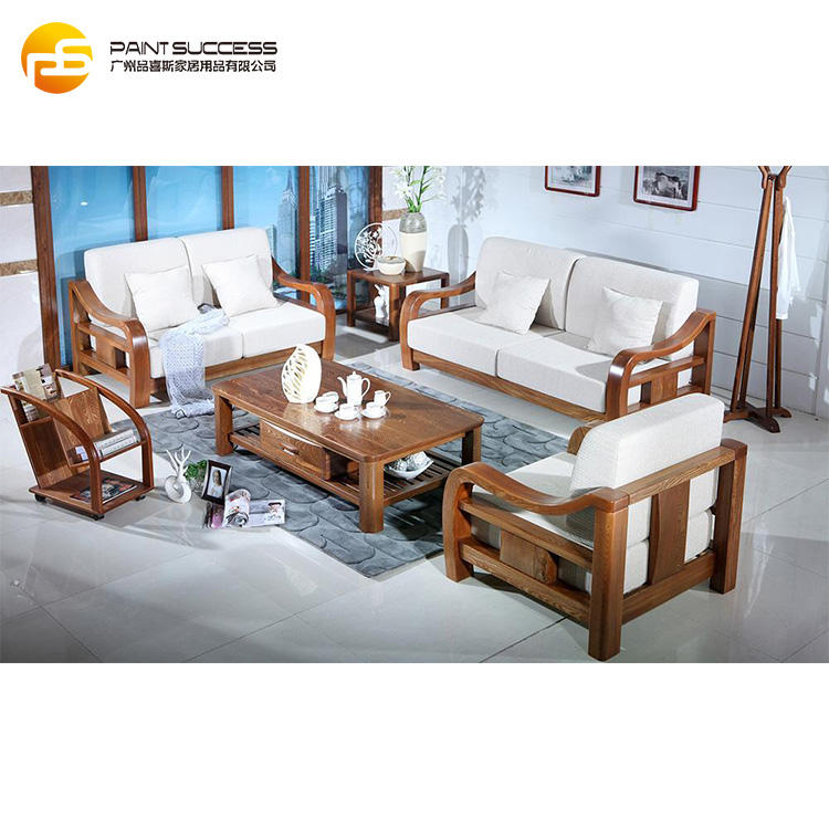 American Style Genuine Wood Sofa for Home Furniture