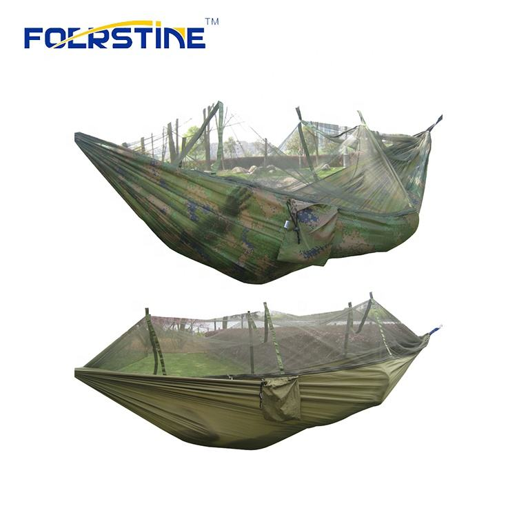 Ultra-Light Portable Camping Hammock with Mosquito Net Travel Camping Hiking Trip Parachute Hammock