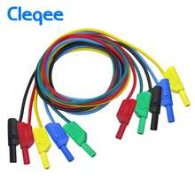Cleqee P1050 1M 4mm Banana to Banana Plug Soft Test Cable Lead for Multimeter 5 Colours