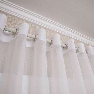 White Sheer Voile Curtains For Interiors Window