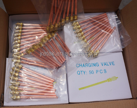 "copper TUBE CHARGING VALVE 1/4""x70"