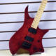 Mahogany Body with Flame Maple Top Headless Electric Guitar