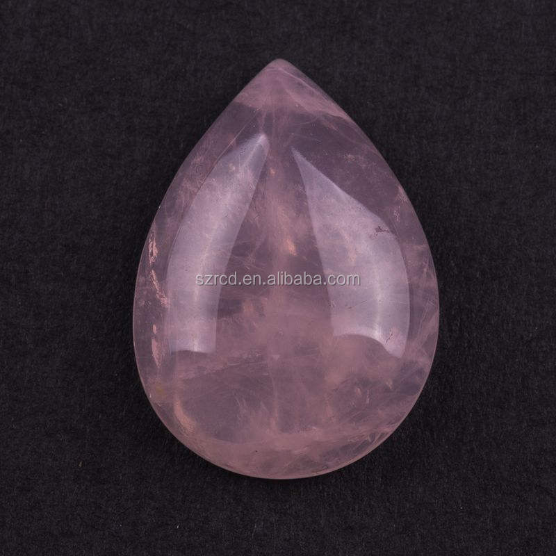 HUGE 40x30mm OVAL CABOCHON-CUT NATURAL BRAZILIAN ROSE-QUARTZ GEMSTONE