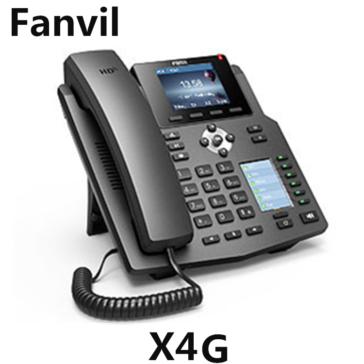 Dual 10/100/1000 Mbps Ports IP Phone Fanvil X4G VoIP SIP Phone