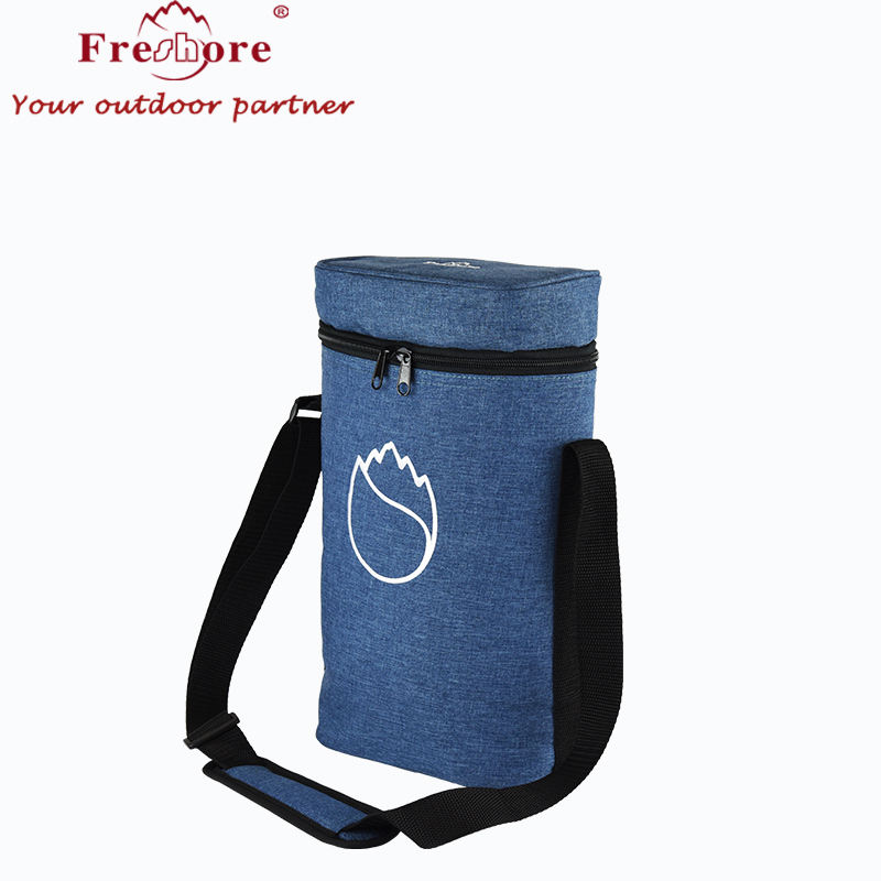 Portable Travel Wine ice bag Insulated Tote Bag Picnic Backpack Kit 2 Bottle Waterproof Cooler bag