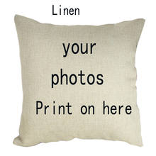 G&D Design Picture Here Print Pet Wedding Personal Life Photos Customize Gift Home Cushion Cover Pillowcase Pillow cover