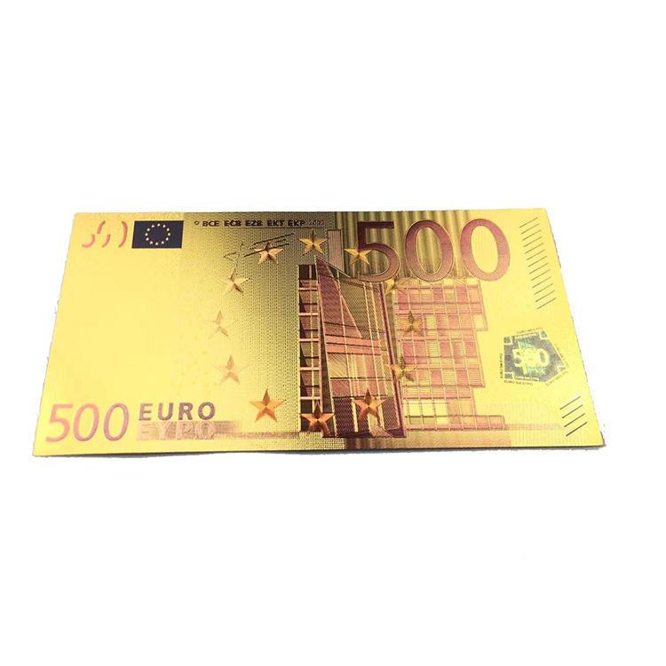 Tùy chỉnh Chấp Nhận Được Sản Phẩm Mới 5/20/100 Euro Lá Vàng Tinh Khiết Mạ Tiền Giấy